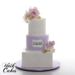 3 tiered simple wedding cake (4)