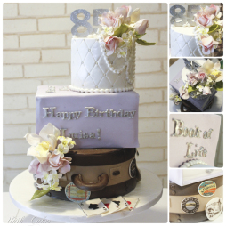 Books And Travel 85th Birthday Cake