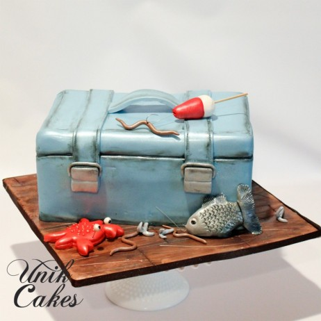 Mens cake for a fisherman