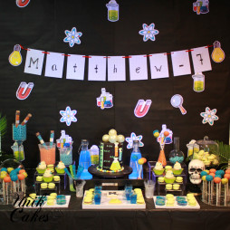 Glow in dark mad scientist birthday cake (4)