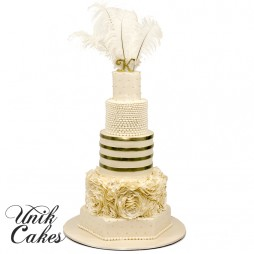 Great-Gatsby-themed-wedding-cake