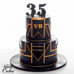 Art Deco 35th Birthday Cake