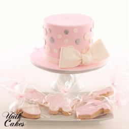 Small Baby Shower Cake And Cookies