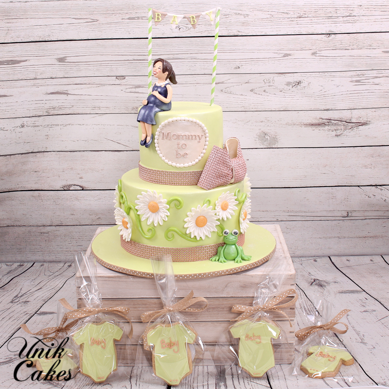 rustic baby shower cake and cookies rustic baby shower cake and