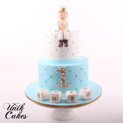 Little prince 1st birthday cake (2)