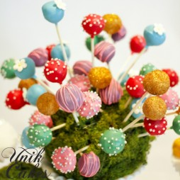 Alice in Wonderland themed cake pops