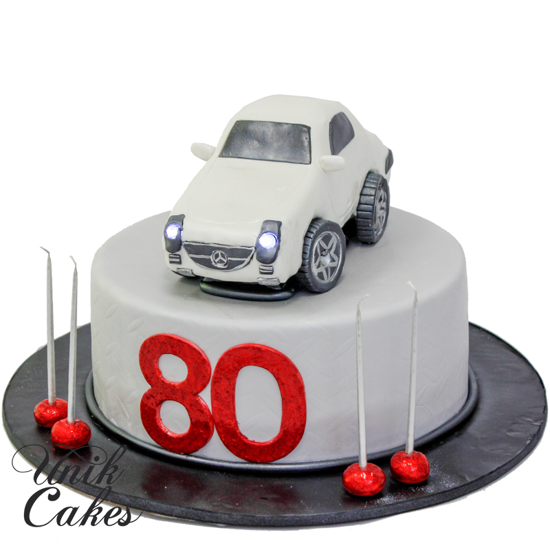 Unik cakes wedding speciality cakes pastry shop for Mercedes benz birthday cake