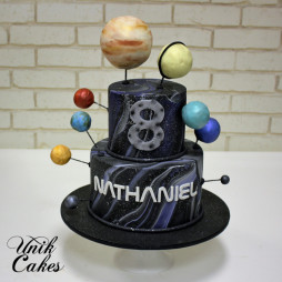 Nasa and planets birthday cake (1)