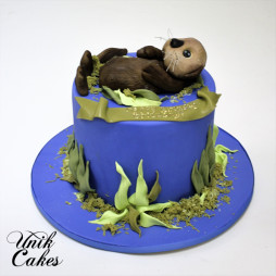 Otter birthday cake (4)