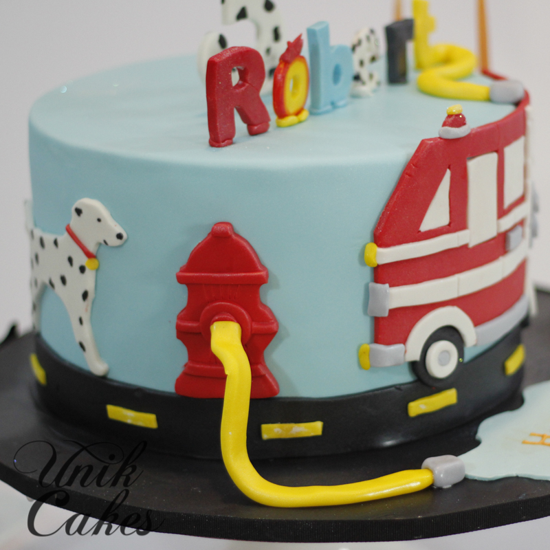 Firefighter Cake Candles
