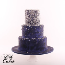 Under the stars wedding cake (5)