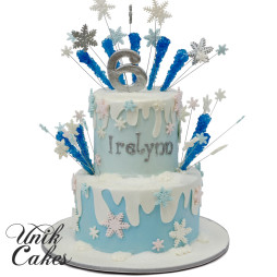 Winter-themed-cake-for-Irelynn