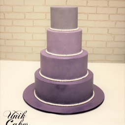 ombre purple wedding cake (2)