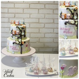 owl-themed-baby-shower-cake-and-cake-pops