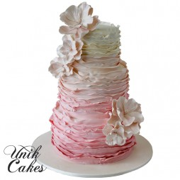 pink-ruffles-ombre-cake