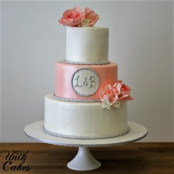 salmon-and-grey-wedding-cake