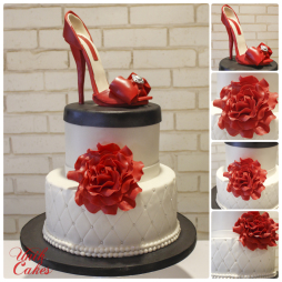 shoe-cake-with-red-rose