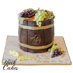 wine-barrel-bridal-shower-cake