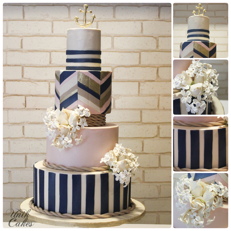 navy blue and blush pink wedding cakes unik cakes wedding amp speciality cakes pastry shop 17746