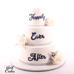 Hily Ever After Wedding Cake
