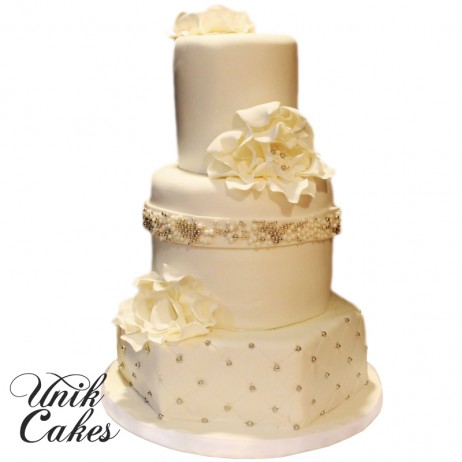 peach white and silver wedding cake unik cakes wedding amp speciality cakes pastry shop 18154